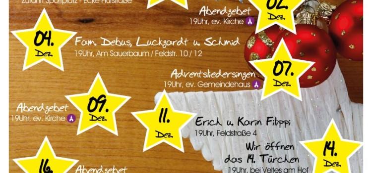 """Lebendiger Adventskalender 2015"" in Bottenhorn"