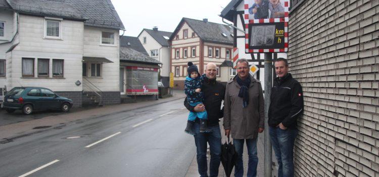 Geschwindigkeitsanzeigesystem für Bottenhorn